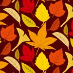 紅葉のイラストを並べたパターン