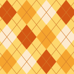オレンジを基調とした秋っぽいアーガイルチェックパターン