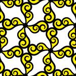 渦のイラストパターン
