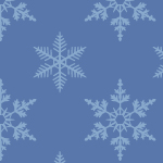 雪の結晶のイラストパターン