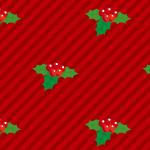 ヒイラギのイラストの入ったクリスマスパターン