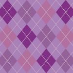 薄めのパープルカラーのアーガイルチェック柄パターン