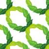 葉っぱのイラストが連なるパターン