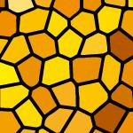 オレンジ色のステンドグラス柄パターン