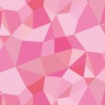 ピンク色基調のジオメトリックパターン