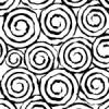 白黒の不気味な渦のパターン
