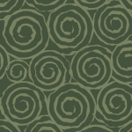 渋い緑色の渦巻き柄パターン