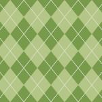 和的な緑色のアーガイルチェック柄パターン