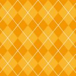 オレンジ色のアーガイルチェック柄パターン