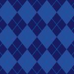 紺色のアーガイルチェック柄パターン