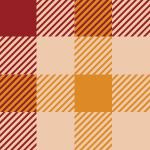 赤色基調のガンクラブチェックパターン