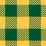 緑とオレンジのシェパードチェック柄パターン
