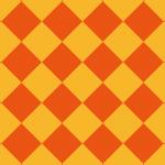 2色のオレンジのハーリキンチェックパターン