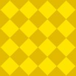 ゴールドの華やかなハーリキンチェック柄パターン