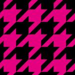 黒とピンクのハウンドトゥース(千鳥格子)柄パターン
