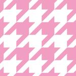白とピンクのハウンドトゥース(千鳥格子)柄パターン