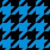 黒と青のハウンドトゥース(千鳥格子)柄パターン
