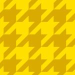 黄色のハウンドトゥース(千鳥格子)柄パターン