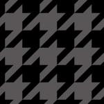 ブラックのハウンドトゥース(千鳥格子)柄パターン