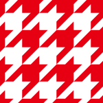 紅白のハウンドトゥース(千鳥格子)柄パターン