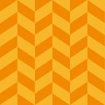 オレンジ色のヘリンボーン柄パターン