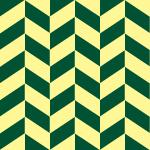 緑と薄い黄色のヘリンボーン柄パターン