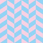 パステル調の青とピンクのヘリンボーン柄パターン