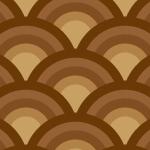 茶色の青海波柄パターン