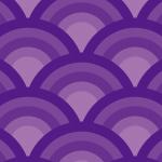 紫色の青海波柄パターン
