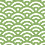 緑と白の青海波柄パターン