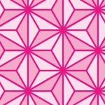 ピンク色の麻の葉柄パターン