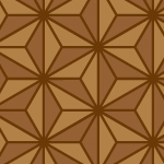 茶色の麻の葉柄パターン