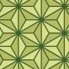 緑色基調の麻の葉柄パターン