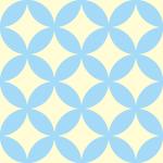 パステルカラーの七宝柄パターン