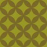 緑と茶色の渋い七宝柄パターン