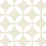 白基調の七宝柄パターン