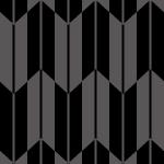 黒い矢絣柄パターン