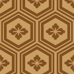 茶色の亀甲柄パターン