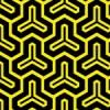 黒と黄色の毘沙門亀甲柄パターン