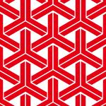 赤と白の組亀甲柄パターン