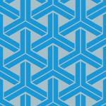 青色の組亀甲柄パターン