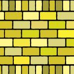 2種類の黄色のレンガブロックイラストパターン