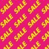 ピンク色の背景に黄色のSALEの文字が並ぶパターン