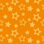 オレンジ色の様々な大きさの星が散らばるパターン
