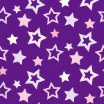 紫色の様々な大きさの星が散らばるパターン