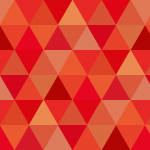 赤基調の三角が並ぶパターン