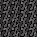 ブラック配色のアラン模様パターン