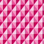 立体的に見えるピンク色の菱形パターン