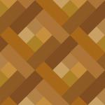 茶色の四角が並ぶパターン