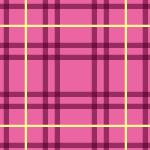 ピンク色ベースのタータンチェエック柄パターン